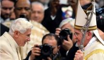 papas francisco y benedicto