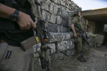 Imagen de archivo de un soldado israelí en la base militar de Altos del Golán