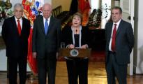 bachelet con presidentes de chile
