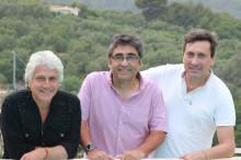 Oscar Lolo Peña,Mauricio Guerrero,y el periodista de Diario Chile Roberto Ardizzone