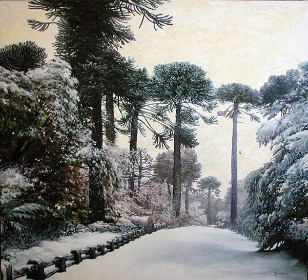 Araucarias-en-la-nieve-Mauricio Leseigneur