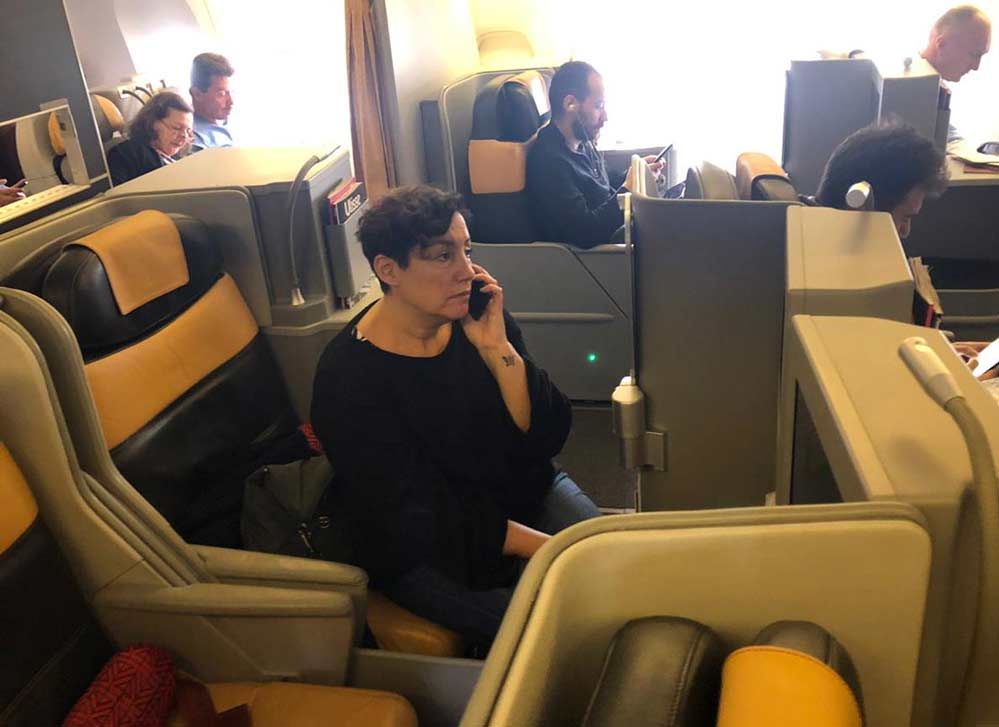 beatriz-sanchez-primera-clase-vuelo