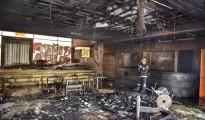 terroristas queman cafe literario providencia