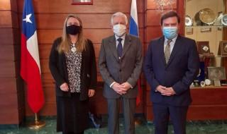 catalina del real, embajador de Rusia y Rodrigo Eitel
